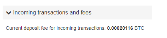 incoming fees