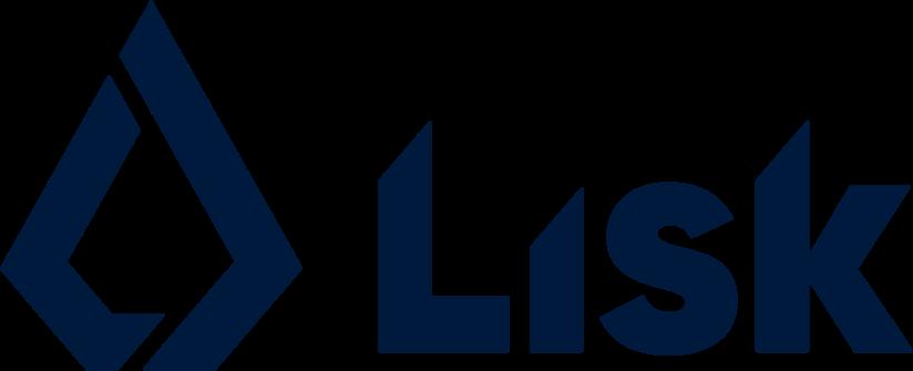 Lisk logo blue on white